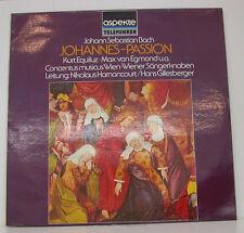 """BACH JOHANNES-PASSION EQUILUZ VON EGMOND HARNONCOURT GILLESBERGER 12"""" LP (e111)"""