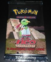 SEALED Neo Discovery Set Booster Pack - 1999 WOTC Pokemon Cards - LIGHT