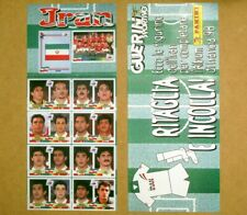 FRANCE 1998 WORLDCUP IRAN TEAM FIGURES SHEET RARE ALBUM ITALIAN VERSION ORIGINAL