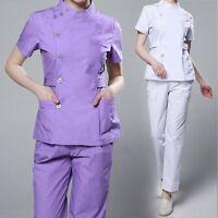 Newly Scrubs Set Women Medical Working Clothes Dental Clinic Uniforms Tops&Pants