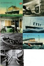 7 RMS TITANIC Card Photos Vintage Antique Old Ship Retro Boat Art Illustration