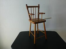 Vintage doll high chair play pretend pinterest project made in England wooden