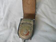 Vintage Prinzlite III light meter in working order with original leather case.