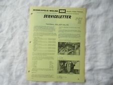 Minneapolis Moline G1000 M670 U302 Jet Tractor Thermal Valve Newsletter Brochure