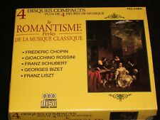 LE ROMANTISME VOL.1-4 <>VARIOUS COMPOSERS<>Canada,  4X CDs ~MADACY FCL-2-5641-1