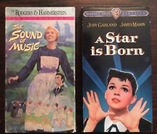 2 VHS box set lot A Star Is Born JUDY GARLAND, The Sound of Music JULIE ANDREWS