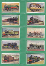 GODFREY PHILLIPS LTD.  -  RARE  SET  OF  25  CARDS  -  RAILWAY  ENGINES  -  1934