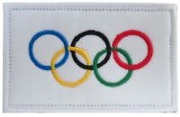 Olympic Games Flag Olympic Rings Banner Embroidered Hook and Loop Patch