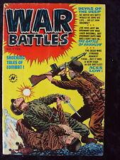 WAR BATTLES #1 1952  HARVEY GOLDEN AGE WAR COMIC