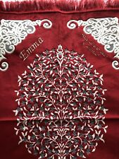 Prayer Mat  Mussallah personalised velvet RED with any name And Dua Quote