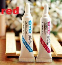 Makeup False Eyelash Eye Lash Waterproof Glue Adhesive ~Dark Tone~ Red x1