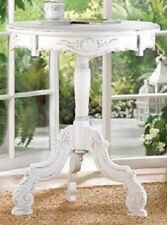New 2x SHABBY-COTTAGE WHITE WOOD BED, LIVING ROOM OR BATH,NIGHT STAND,END TABLES