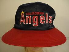 Men's 100% Nylon Old School MLB California Angels Snapback Baseball Cap Hat