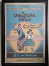 GRATEFUL DEAD NASSAU UNIONDALE 1973 CONCERT BYRD POSTER SWELL DANCE 2ND FRAMED
