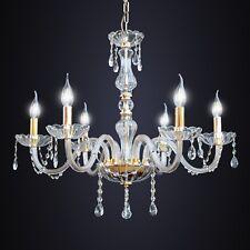 Lampadario classico 6 luci cristallo oro DESIGN SWAROVSKY salotto soggiorno