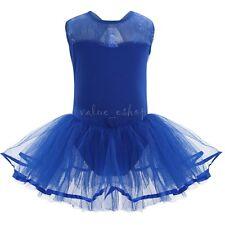 Girls Gymnastic Ballet Leotard Tutu Dress Ballerina Dance Outfit Costume 3-14Yrs