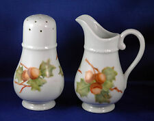 Lovely Hand Painted Sugar & Syrup Set Signed Fran Knight - Estate Find