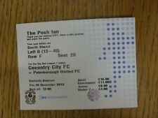 26/12/2013 Ticket: Coventry City v Peterborough United [At Northampton Town] . T