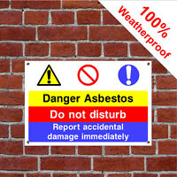 Danger asbestos sign CONS079 Site notices and safety signs