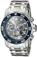 New Invicta Mens 80059 Charcoal Gray Dial Scuba Pro Diver Bracelet Watch