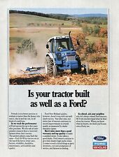 1989 Print Ad of Ford New Holland Farm Tractor is your tractor built as well?