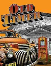 Oldtimer Grayscale Adult Coloring Book Images of Vintage Vehicles NEW (B246)