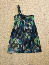 LOFT Tropical Ikat Print One Shoulder Dress Size 2Petite