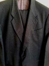 Men's Suit - Made in Italy (Black, 100% Wool, Handmade, Big/Tall)