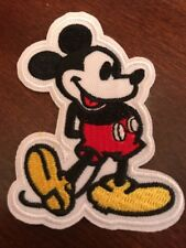 """MICKEY Mouse Yellow Shoes Iron On Or SEW on patch mint never used 2.5"""" x 2.25"""""""