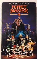 Puppet Master 4 VHS Gordon Currie, Chandra West, Jason Adams, Guy Rolfe; Burr
