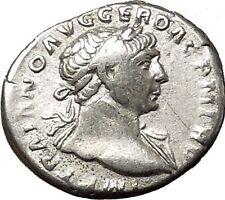 Trajan 103AD Unlisted  Silver Ancient Roman Coin  Pax Peace Cult RARE  i53284