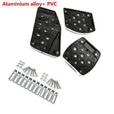 3 x Aluminum Set Non-Slip Car Foot Pedals Pad Cover For Brake Clutch Accelerator