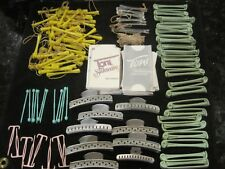 Vintage Hair Rollers Perm Varied Lot including Aluminum alligator clips