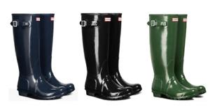 Hunter Women's Original Classic Tall Rain Boot's - Rubber - Open Box Sale