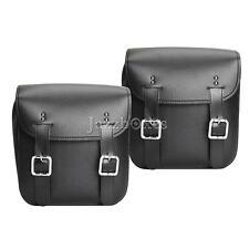 2x Tool Side Saddle Bag For Yamaha V Star 650 1100 1300 Silverado Classic Custom