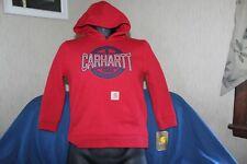 Carhartt Boys Sweatshirt Red Long Sleeve Hoodie