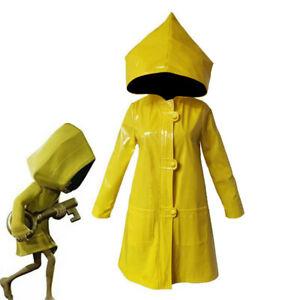 Little Nightmares 2 Six Cosplay Costume Yellow Jacket Coat Halloween Raincoat -/