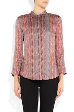 Theyskens' Theory  Baimee Idell Pink 100% Silk Blouse $ 395 sz L