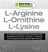 L-Arginine L-Ornithine L-Lysine Tablets Better Bodies Increase Lean Muscle Mass