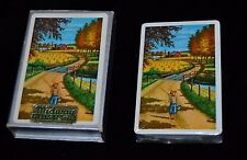 Vtg Midway Playing Cards COUNTRY FARM BOY BAREFOOT FISHING POND BRIDGE Sealed!