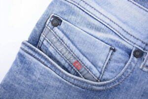 DIESEL SLEENKER 0854X STRETCH SLIM SKINNY Men's Denim Jeans  Light Blue RRP £140
