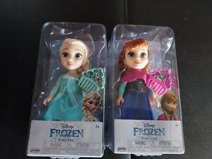 "Two Dolls Frozen 2 Princess Anna & Elsa 6"" Petite Doll And Comb By Jakks 3+"