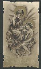 estampa antigua de Jesus  San Juan Bautista santino holy card image pieuse