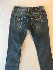 Miss Me Women's Size 25 JP4422CP Capri Blue Distressed Jeans Measures 26x30  E65