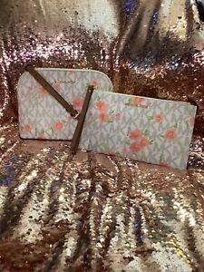 Michael Kors Cindy Floral Dome Satchel Crossbody & Wristlet NWT
