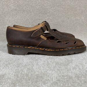 Vintage 90's Dr. Martens Men's 11 Fisherman Sandals Closed Toe Brown Buckle