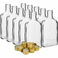 GLASS bottles 100ml - 10cl -  10 bottles + 10 screw caps home brewing