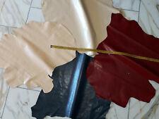 LEDER TIP 29682-BC, Lederreste, 4-Lederhäute-Konvolut, verschiedene Farben nappa