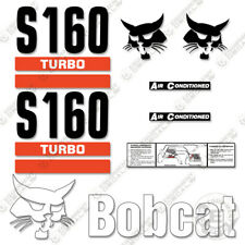 Bobcat S160 Decal Kit Skid Steer Decals Replacement Stickers (2 Stripe)