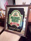 VTG Large Framed Mirrored Michael Shea's Irish Amber Brand Pub Style Lager